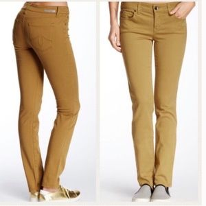 Anthropologie Level 99 Lily Skinny Jeans Mustard